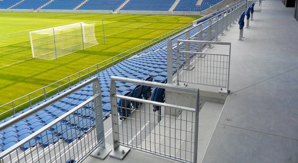 Stade Océane Le Havre 3500ml de garde corps et mains courantes